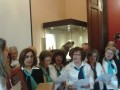 "The choir of the ""LEON ALLATIOS"" Cultural Association of Chios singing Christmas carols at the end of the event."