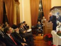 "O κ. Γεώργιος Ανωμερίτης, Μέλος του Δ.Σ. του Ιδρύματος ""Μαρία Τσάκος"" και πρώην Υπουργός Εμπορικής Ναυτιλίας, κατά τη διάρκεια της ομιλίας του εκ μέρους του Καπτ. Παναγιώτη Ν. Τσάκου."