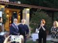 Κατά τη διάρκεια επίδοσης βραβείων σε εθελοντές από τον Καπτ. Παναγιώτη Ν. Τσάκο. Awards were given to volunteers by Capt. Panagiotis N. Tsakos.