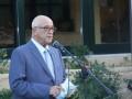 Ο Καπτ. Παναγιώτης Ν. Τσάκος χαιρετίζει την εκδήλωση. Capt. Panagiotis N. Tsakos at his opening speech.